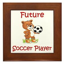 Future Soccer Player Framed Tile