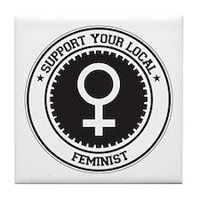 Support Feminist Tile Coaster