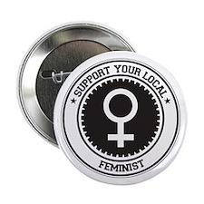 "Support Feminist 2.25"" Button"