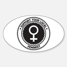 Support Feminist Oval Decal