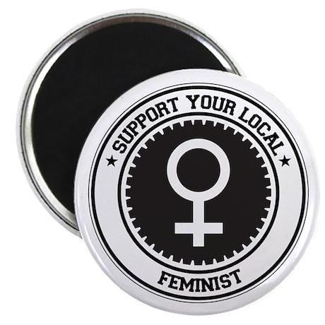 """Support Feminist 2.25"""" Magnet (100 pack)"""