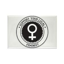 Support Feminist Rectangle Magnet