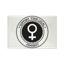 Support Feminist Rectangle Magnet (100 pack)