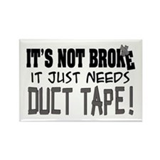 Not Broke - Duct Tape Rectangle Magnet