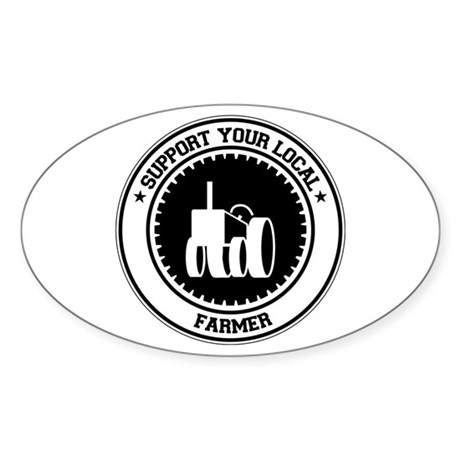 Support Farmer Oval Sticker