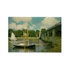 Monet's Bridge Rectangle Magnet