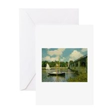 Monet's Bridge Greeting Card