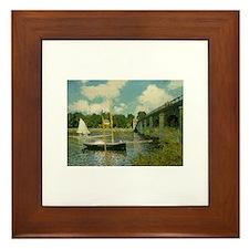 Monet's Bridge Framed Tile
