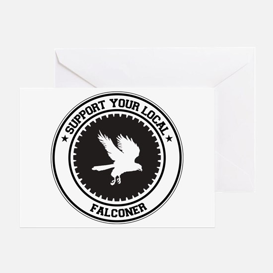 Support Falconer Greeting Card