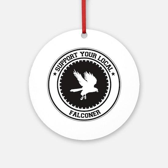 Support Falconer Ornament (Round)