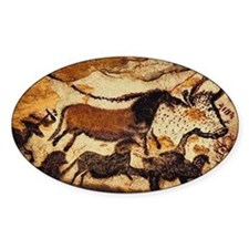 Cave Painting Oval Decal