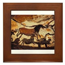 Cave Painting Framed Tile