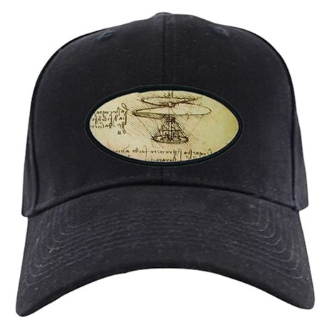 DaVinci Flying Machine Black Cap