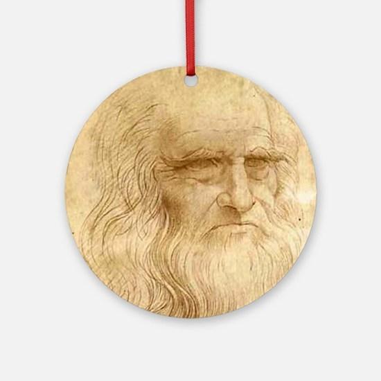 Leonardo Da Vinci Ornament (Round)