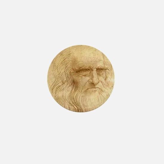 Leonardo Da Vinci Mini Button