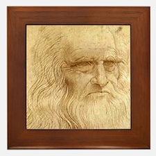 Leonardo Da Vinci Framed Tile