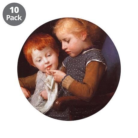 "Little Knitters 3.5"" Button (10 pack)"