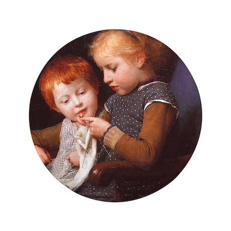 """Little Knitters 3.5"""" Button"""