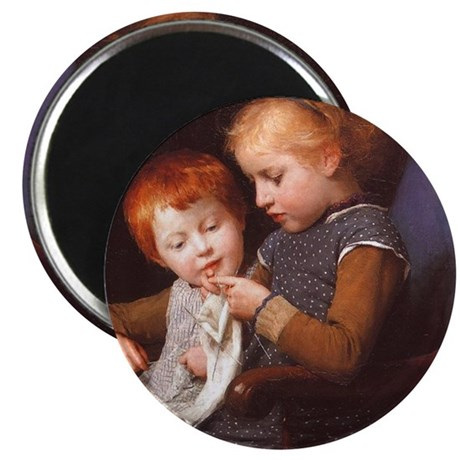 "Little Knitters 2.25"" Magnet (100 pack)"