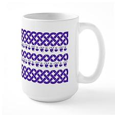 MugCeltic Knots and Hearts-Purple