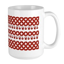 Coffee MugCeltic Knots and Hearts-Red