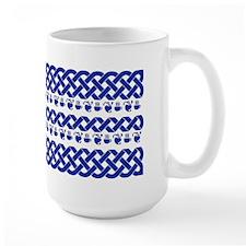 MugCeltic Knots and Hearts-Blue