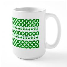 MugCeltic Knots and Hearts, Green