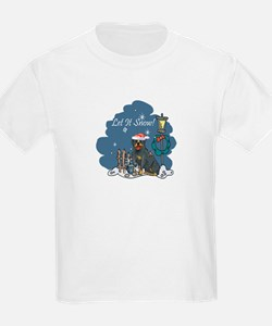 Let It Snow Rottweiler T-Shirt