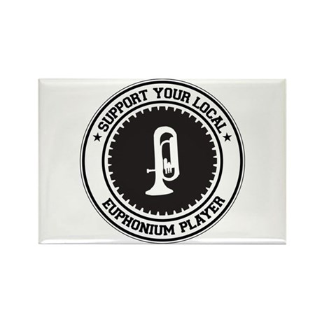 Support Euphonium Player Rectangle Magnet (10 pack
