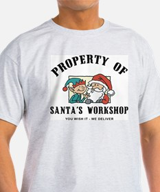 Property of Santa's Workshop Ash Grey T-Shirt
