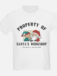 Property of Santa's Workshop Kids T-Shirt