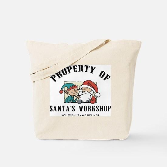 Property of Santa's Workshop Tote Bag