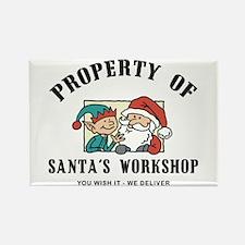 Property of Santa's Workshop Rectangle Magnet