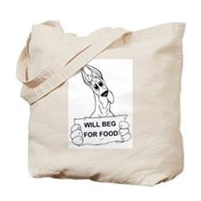 Great Dane Food Beg Tote Bag