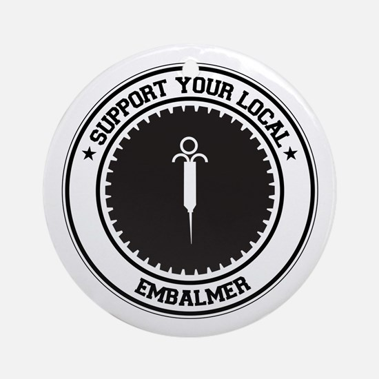 Support Embalmer Ornament (Round)