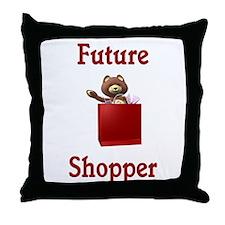 Future Shopper Throw Pillow
