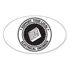 Support Electrical Engineer Oval Decal