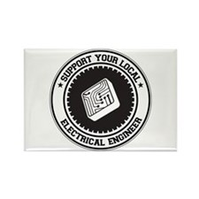 Support Electrical Engineer Rectangle Magnet
