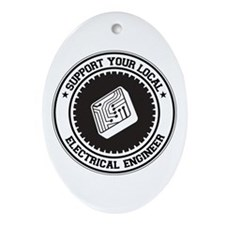 Support Electrical Engineer Oval Ornament