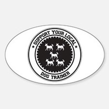 Support Dog Trainer Oval Decal
