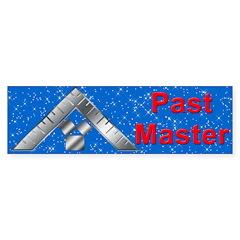 Masonic Past Master Bumper Bumper Sticker