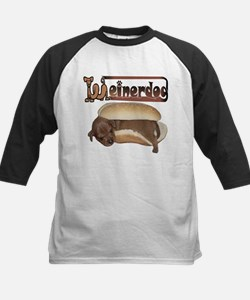 WEINER DOG Kids Baseball Jersey