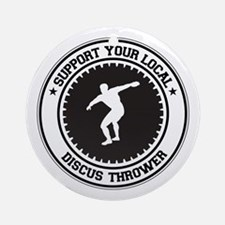 Support Discus Thrower Ornament (Round)