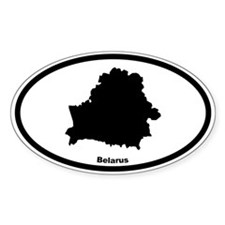 Belarus Outline Oval Decal