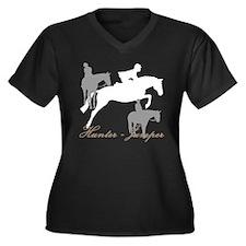 Hunter Jumpe Women's Plus Size V-Neck Dark T-Shirt