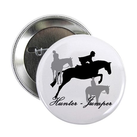 """Hunter Jumper Trio Script 2.25"""" Button"""
