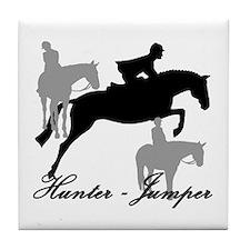 Hunter Jumper Trio Script Tile Coaster