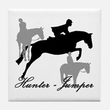 Hunter Jumper Trio Script Tile Coaster