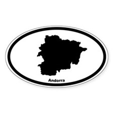 Andorra Outline Oval Decal