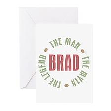 Brad Man Myth Legend Greeting Cards (Pk of 10)